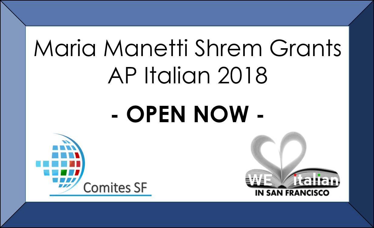 MARIA MANETTI SHREM GRANTS 2018 – NOW OPEN