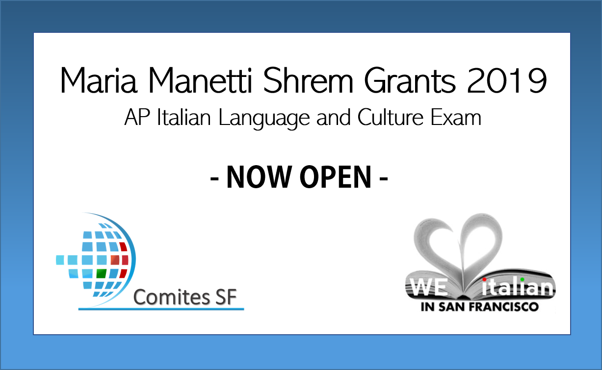 MARIA MANETTI SHREM GRANTS 2019 – NOW OPEN