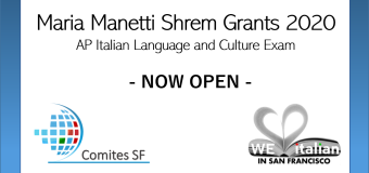MARIA MANETTI SHREM GRANTS 2020 – NOW OPEN